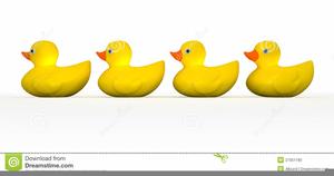 Ducks In A Row Clipart.