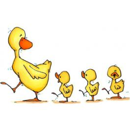 Free clipart ducks in a row.