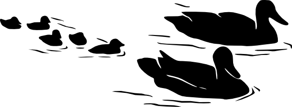 Geese Family Swimming Clip Art at Clker.com.