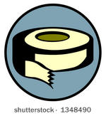 Duct Tape Free Vector Art.