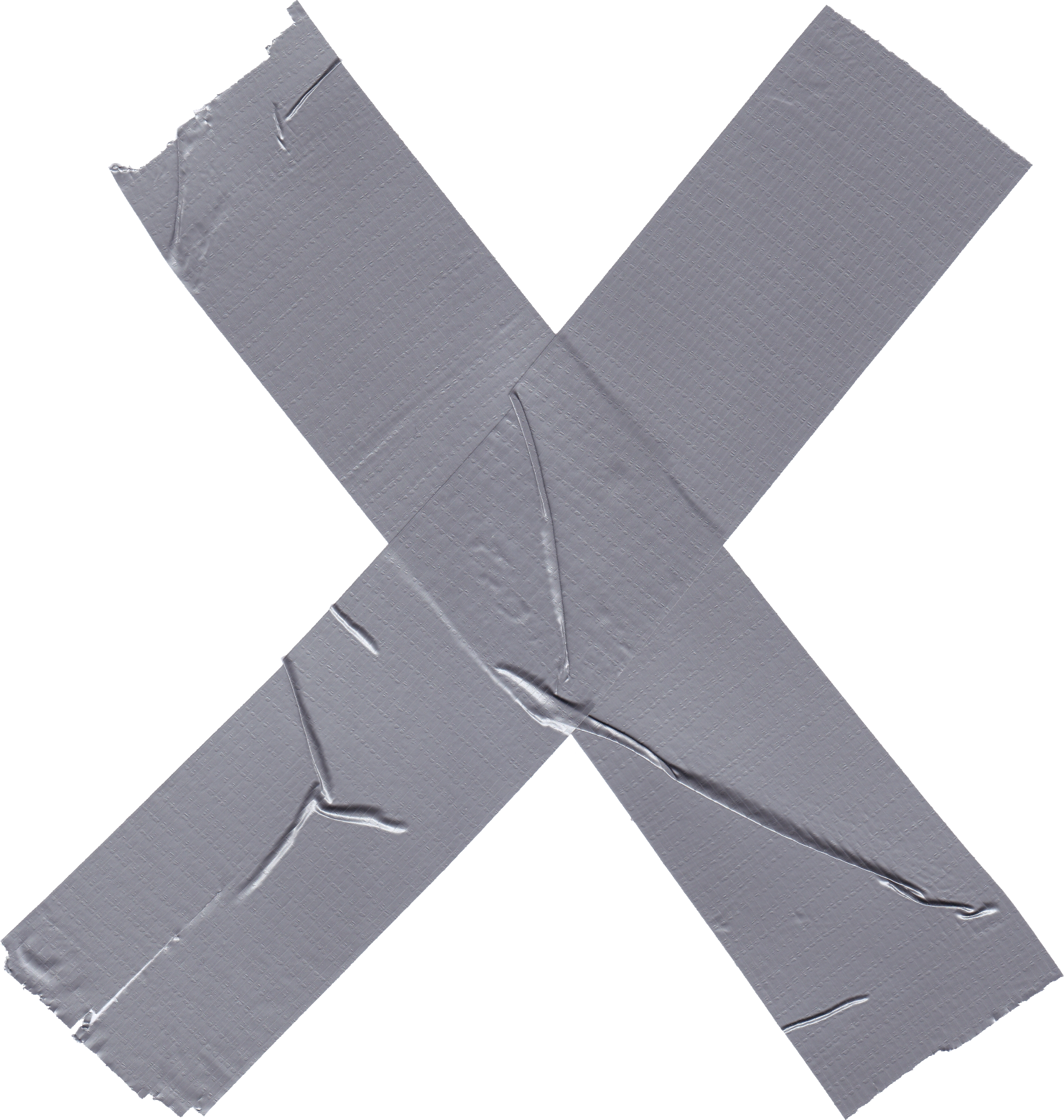 4 Cross X Duct Tape (PNG Transparent).