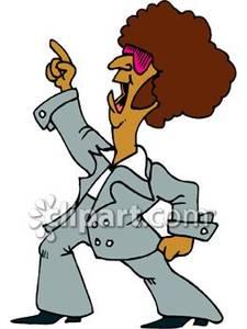 Dancing Guy In Suit Clipart.