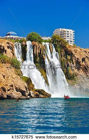 Stock Image of Waterfall Duden at Antalya Turkey k15727675.