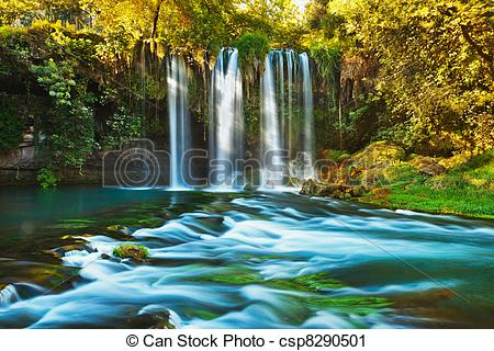 Stock Photography of Waterfall Duden at Antalya Turkey.
