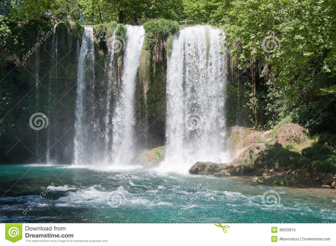Upper Duden Waterfall In Antalya (Turkey) Royalty Free Stock Photo.