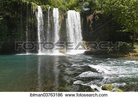 """Stock Images of """"Upper Duden Falls, Duden Selalesi, Duden."""