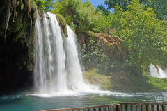 Duden Park With The 40m High Waterfall In Antalya, Turkey Stock.