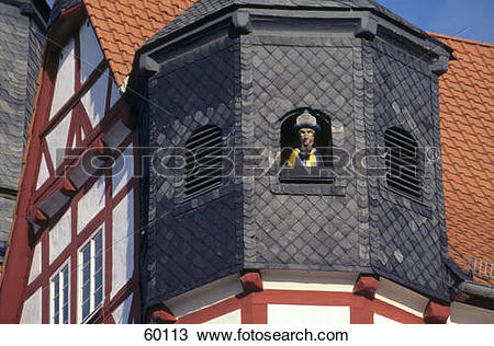 Stock Photo of Low angle view of church, Duderstadt, Saxony.