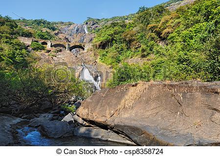 Stock Photo of Waterfall in India.