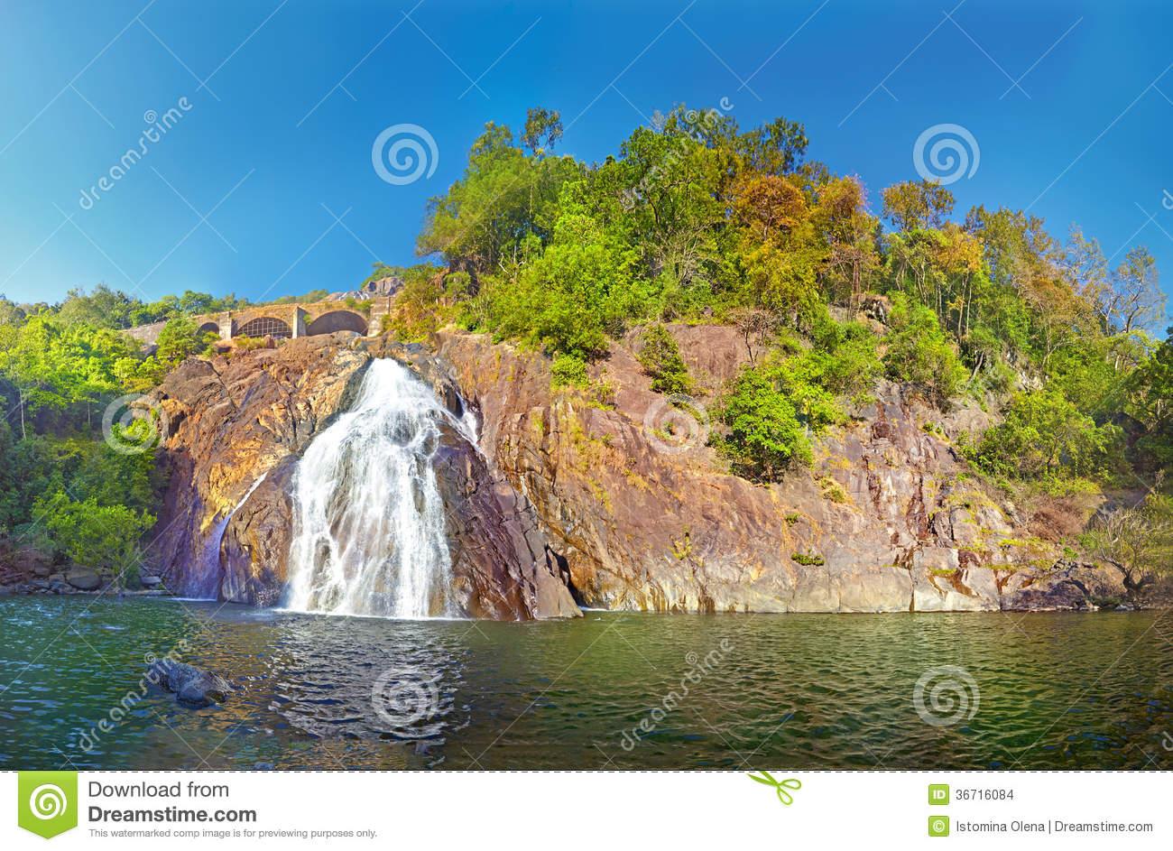 Dudhsagar Falls. Stock Images.