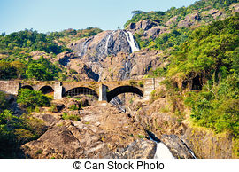 Picture of Dudhsagar Waterfall.