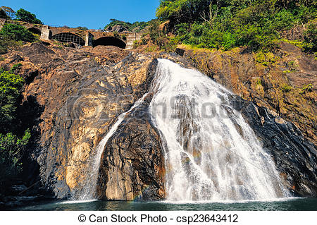 Stock Photography of Waterfall in Goa.
