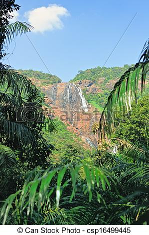 Stock Photo of Waterfall in Old Goa.
