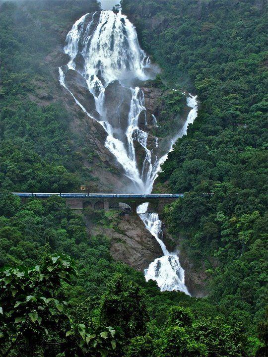 ✯ Dudhsagar Falls, South Goa.