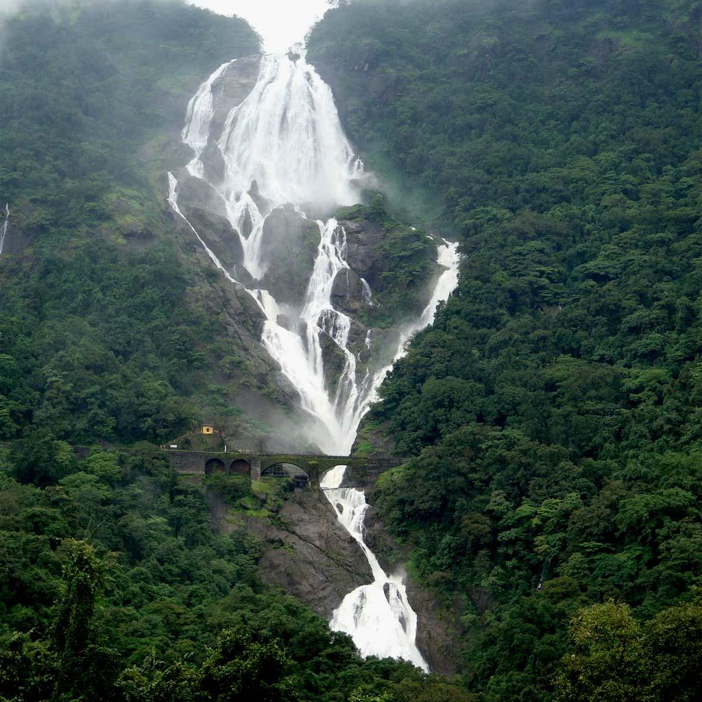dudh sagar waterfall.