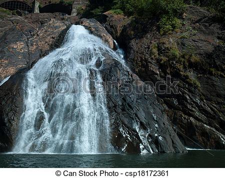 Stock Image of Goa Waterfalls.