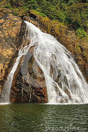 Dudhsagar Falls Stock Photos, Images, & Pictures.