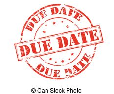 Due Date Clipart.