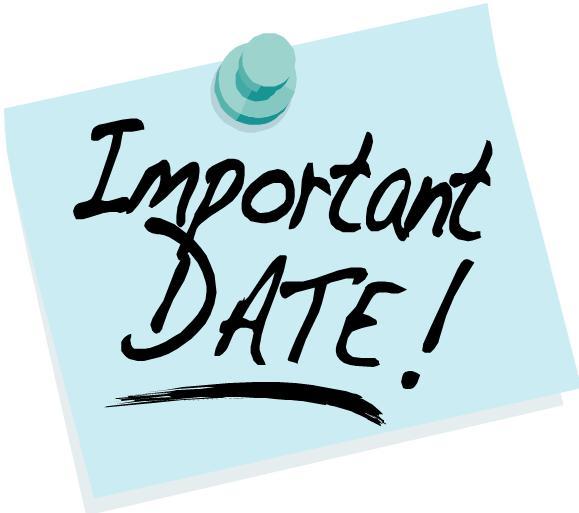 Calendar due date cartoon clipart.