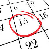 Stock Photograph of Due Date Calendar Circled for Pregnancy or.