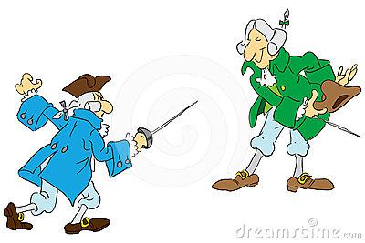 Dueling Men Stock Image.
