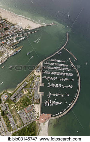 "Picture of ""Aerial view, Hohe Duene marina, Hanse Sail Rostock."