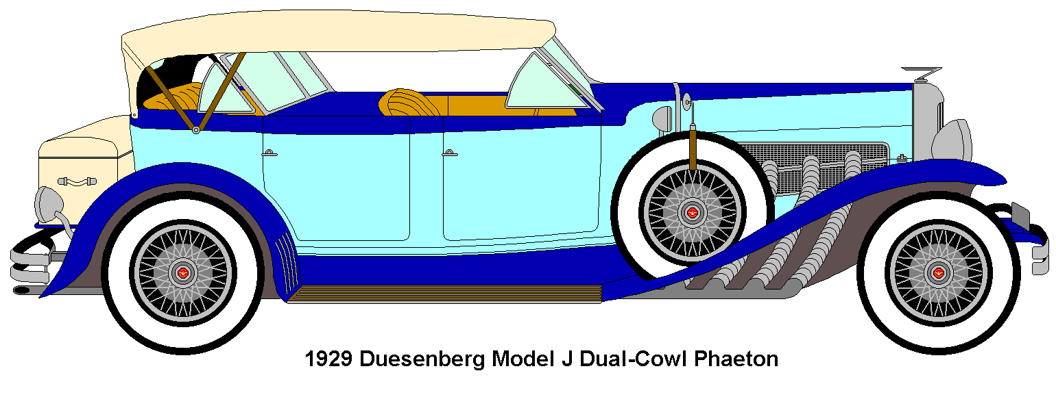 A simple MS Paint Duesenberg.