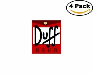 Details about duff beer logo 4 Stickers 4x4 Inches Sticker Decal.