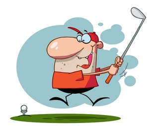 Golfer Clipart Image.