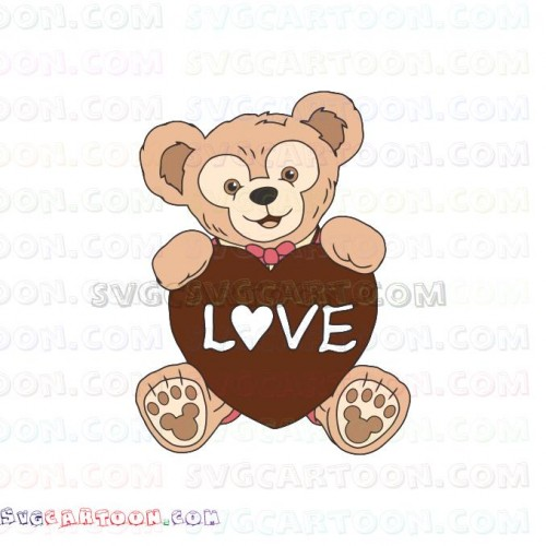 Duffy The Bear Love Duffy and Friends svg dxf eps pdf png.