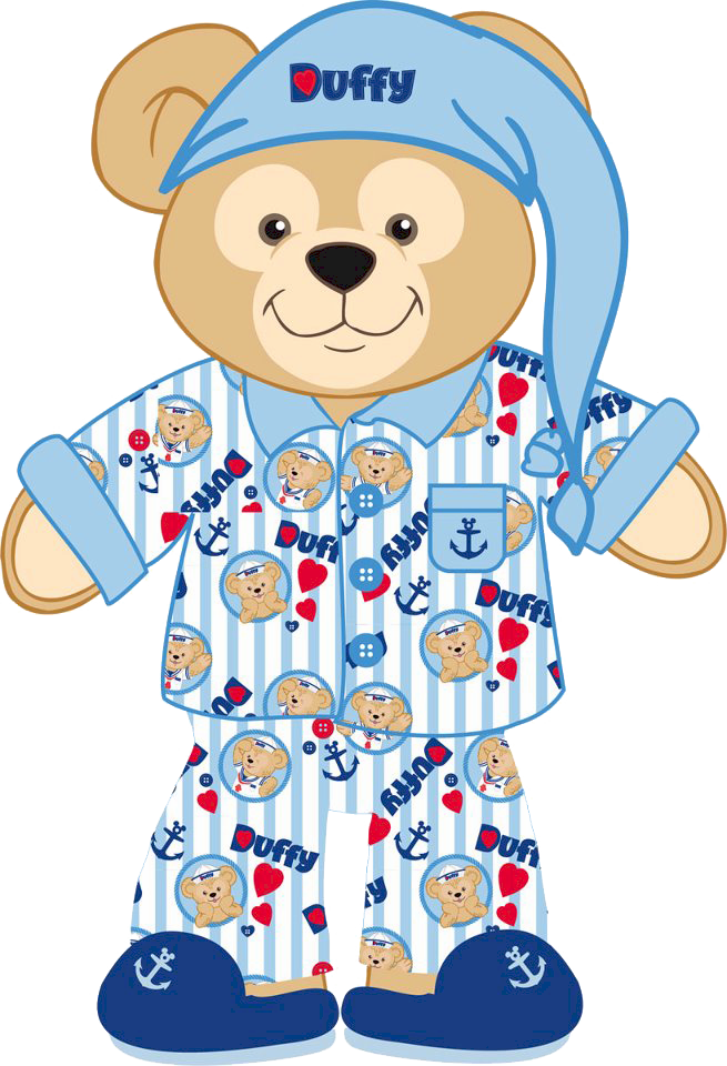 Pajama duffy the bear clipart.