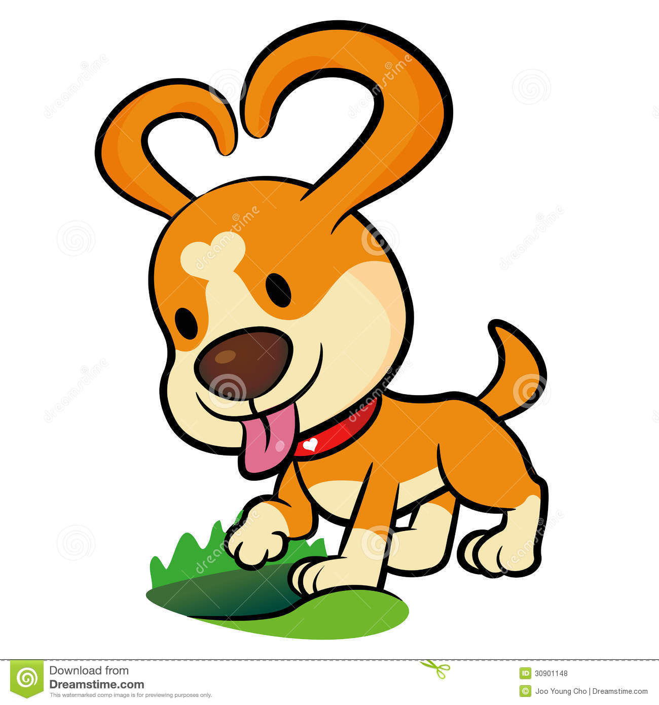 The Puppy Mascot Dug A Hole In The Ground. Animal Character Desi.