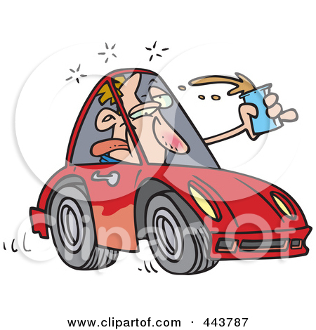 Drunk driving clipart free.