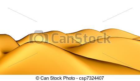 Stock Illustraties van Duinen, gouden, sandhills, Of, Vrijstaand.