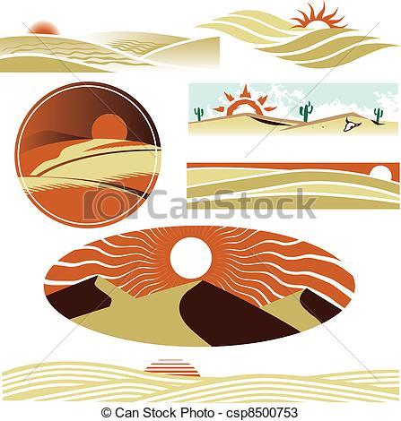 Vector van Duinen, woestijn.