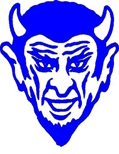 Blue Devils Logo Stencil Outline Version Clipart.