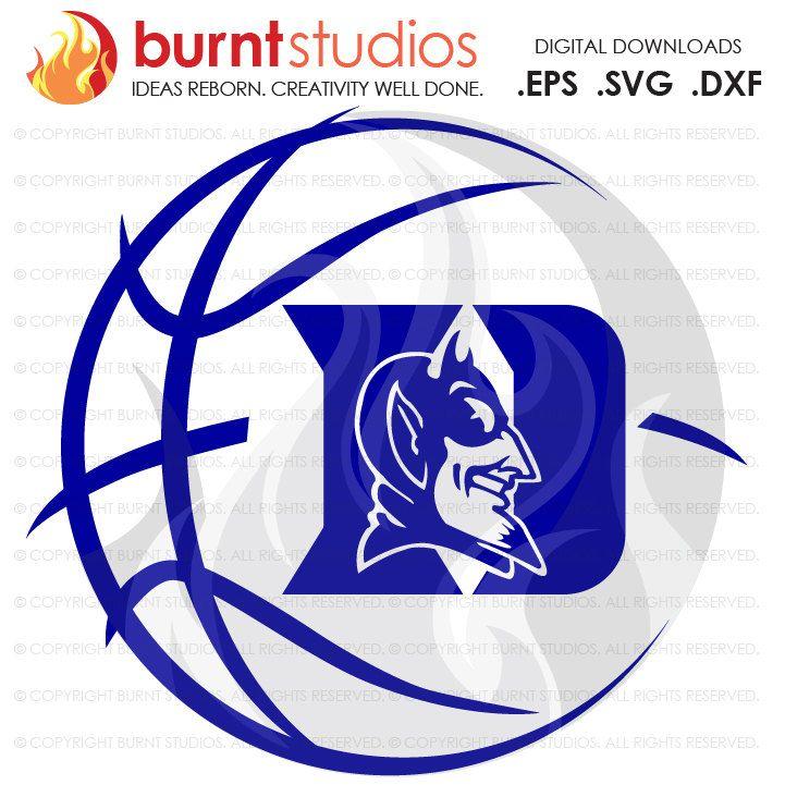 Digital File, Duke University Blue Devils Logo Basketball, Svg, Png.