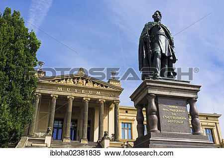 "Stock Image of ""Monument of Grand Duke Paul Friedrich in front of."
