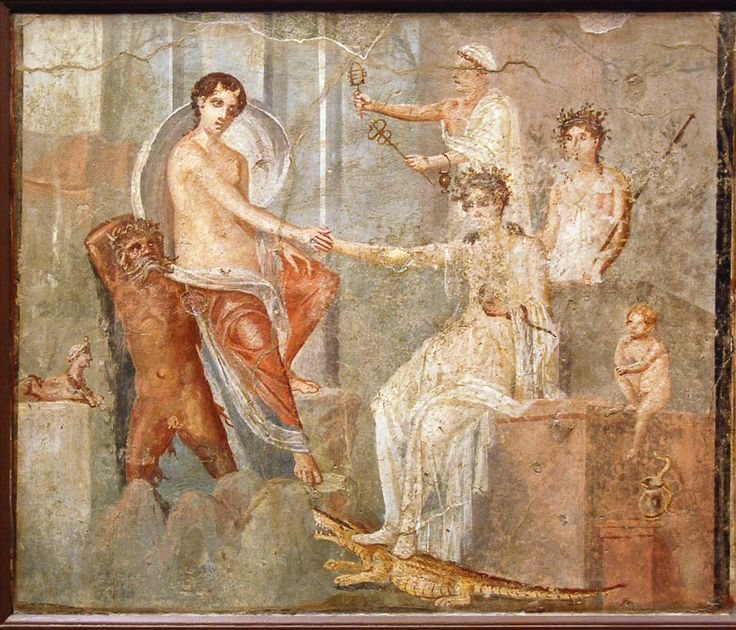 Fresco depicting Io at Canopus in Egypt, consoled by Isis, from.