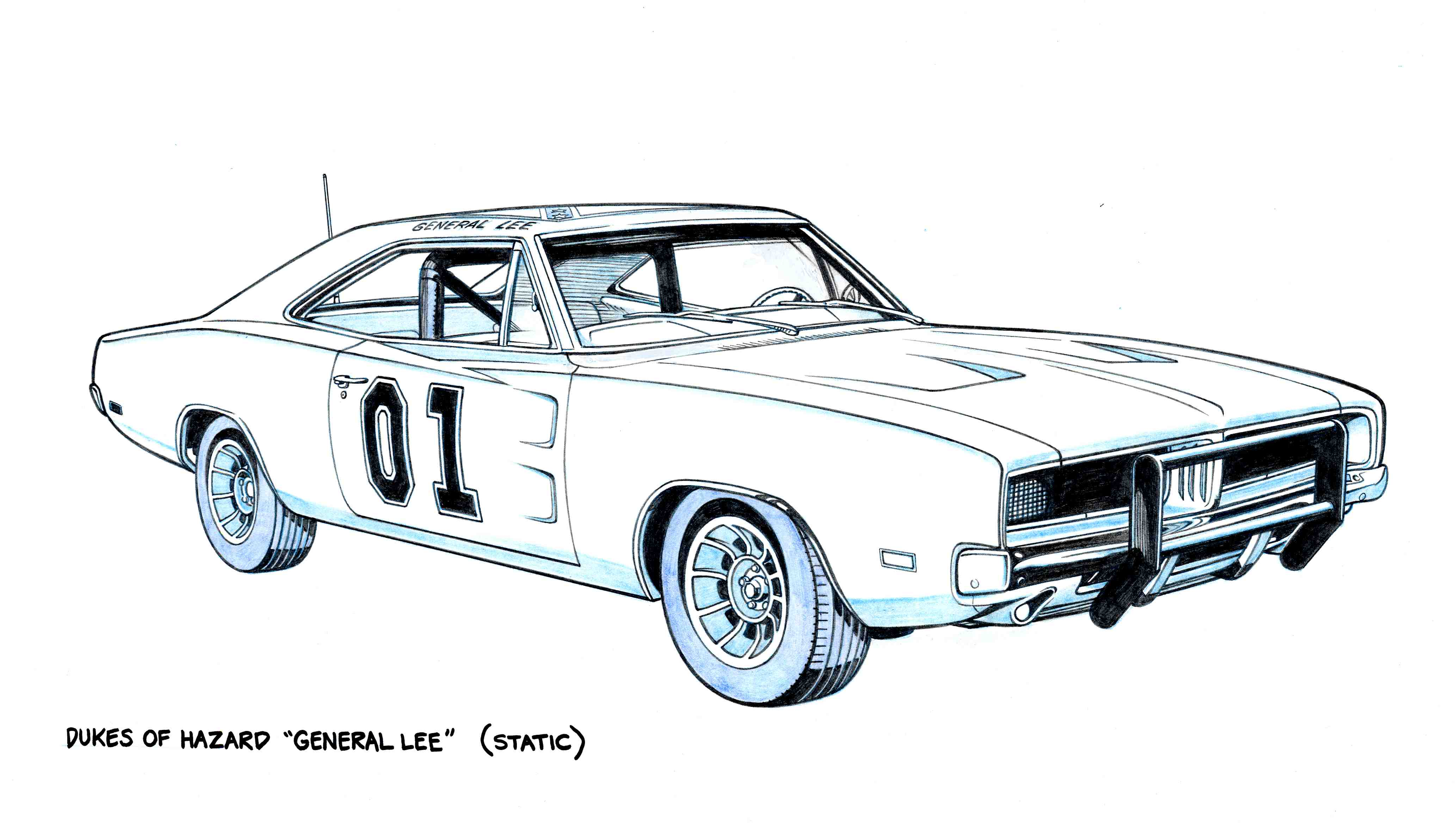 Dukes Of Hazzard Car Coloring Pages.
