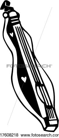 Clip Art of , dulcimer, instrument, musical, u17608218.