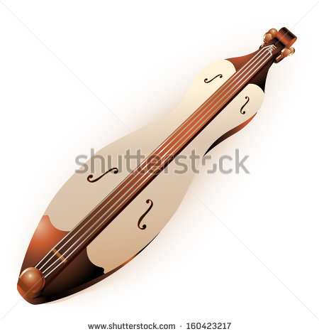 Dulcimer Isolated Stock Photos, Royalty.