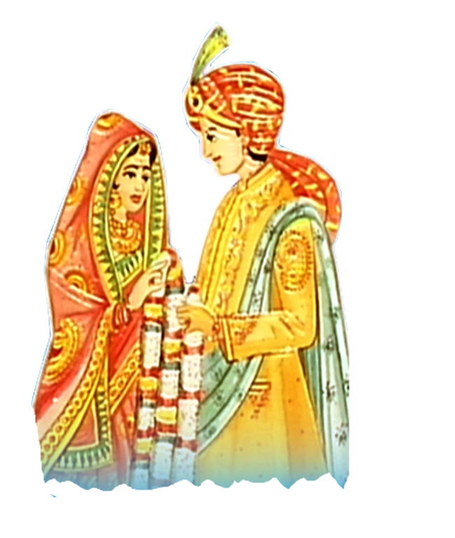 Indian Dulha Dulhan PNG Transparent Indian Dulha Dulhan.PNG Images.