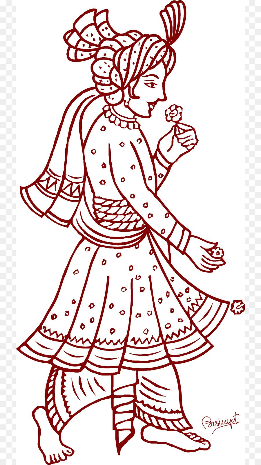 28+ Collection of Indian Dulha Dulhan Clipart.