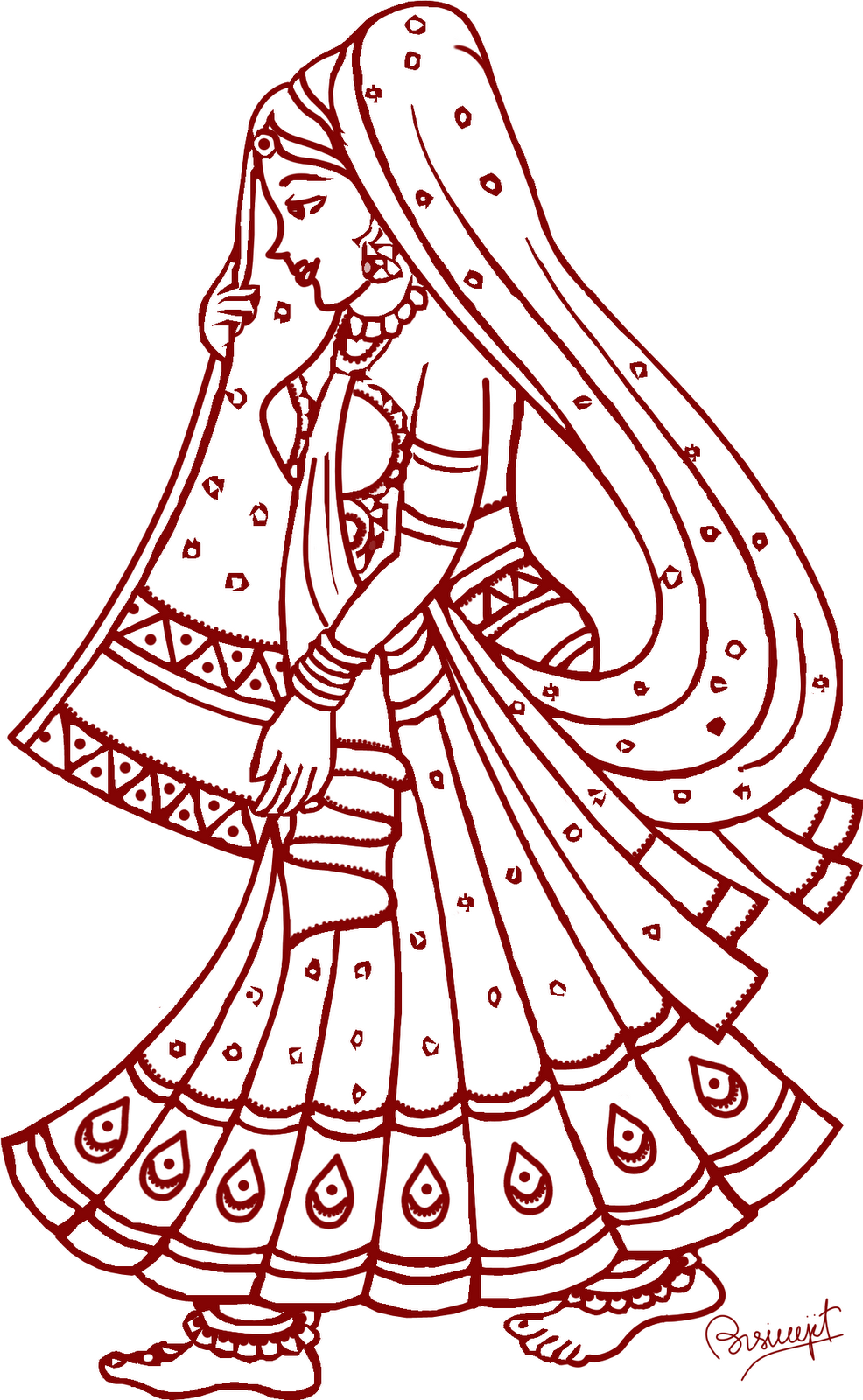 Dulhan clipart 1 » Clipart Station.