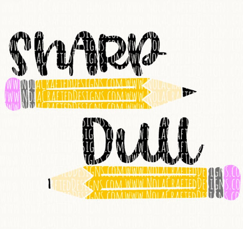 Sharp Pencil Svg.
