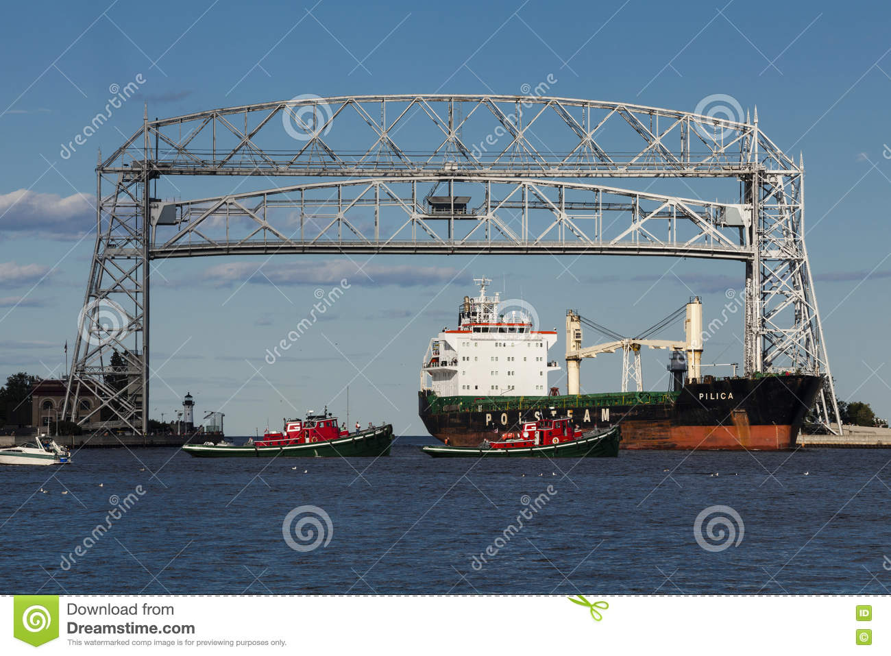 Duluth, MN Port Editorial Photo.