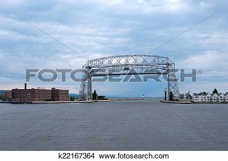 Stock Photo of Aerial Lift Bridge in Duluth Minnesota k22167364.