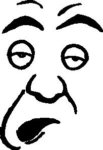 Dumb face clip art.