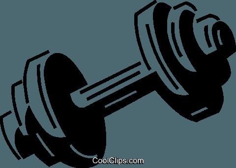 dumbbell Royalty Free Vector Clip Art illustration.